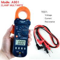 Digital Clamp Meter A901 Clamp Multimeter DC/AC 600A Voltmeter Current Meter Resistance Capacitance Tester