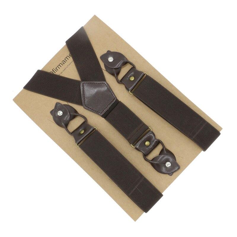 4cm Width Y Back Men Vintage Style Trim Patchwork Color Popular Clothes Brace Suspender
