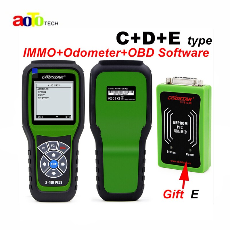 New 2017 OBDSTAR X100 PROS C+D+E model Key Programmer with EEprom Adapter+IMMOBILISER+Odometer Adjustment Replace X-100 Pro