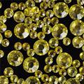 400 шт. 2 мм-6 мм Размер Смешивания Lemon Желтый Ногтей Стразами 3D Nail Art Украшения Flatback Горный Хрусталь Блеск Драгоценных Камней нужно Клей на N10