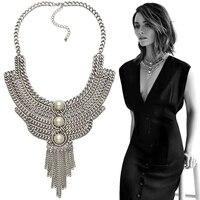 Fashion ZA Necklaces Pendant Women 2016 Fine Pearl Choker Jewelry Collares Collier Femme Bib Boho Vintage