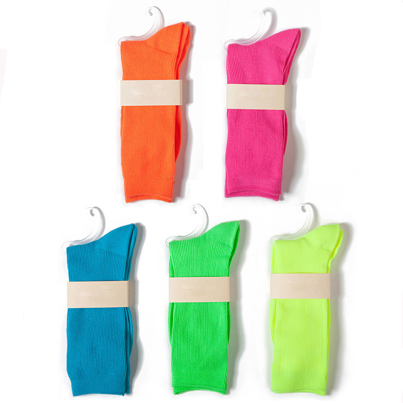 Fluorescent Candy Color Socks 2