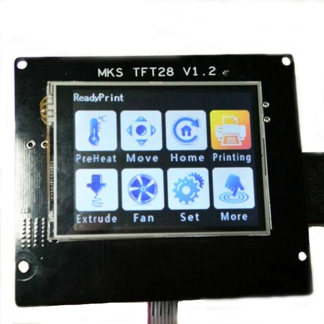 2.8 MKS-TFT28 Display LCD 12 V Tela Sensível Ao Toque de Controle Da Impressora 3D placa LCD Suporte MKS Wifi Módulo U disco e cartão SD cartão