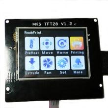 2.8 MKS-TFT28 ЖК-Дисплей 12 В 3D Принтер С Сенсорным Экраном Управления доска ЖК Поддержка МКС Модуль Wifi U диск и SD карты