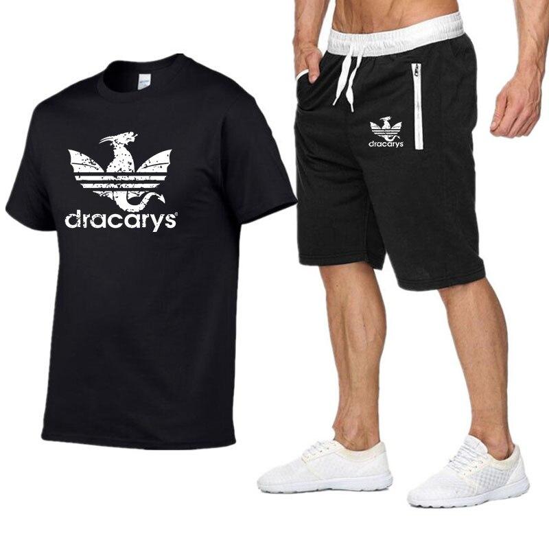 2019 New Dracarys T Shirt For Men Game Of Thrones Aesthetic Tshirt Mother Of Dragon Daenerys Harajuku Clothe Men's Sport T Shirt