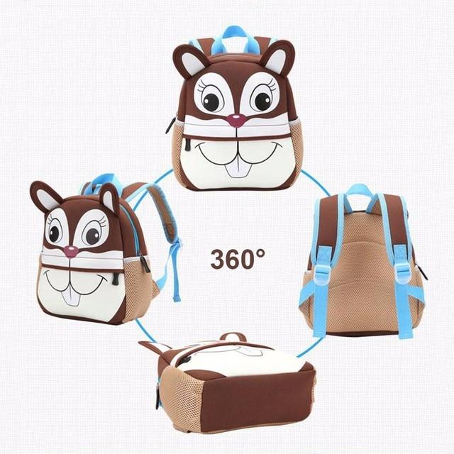 Cute Cartoon Baby School Bag Children Animal Shape Mini Plush Backpack Kids Outdoor Travel Pack Bag Student Kindergarten Bags