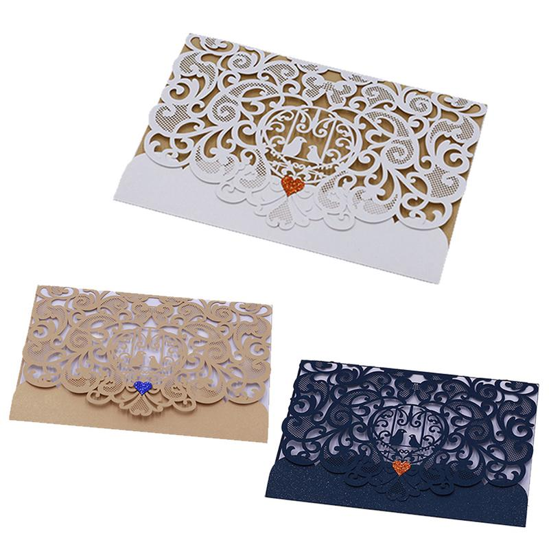 Wedding Invitations High End: 10PCS/Pack Hollowed Out Innovative Wedding Invitation Card