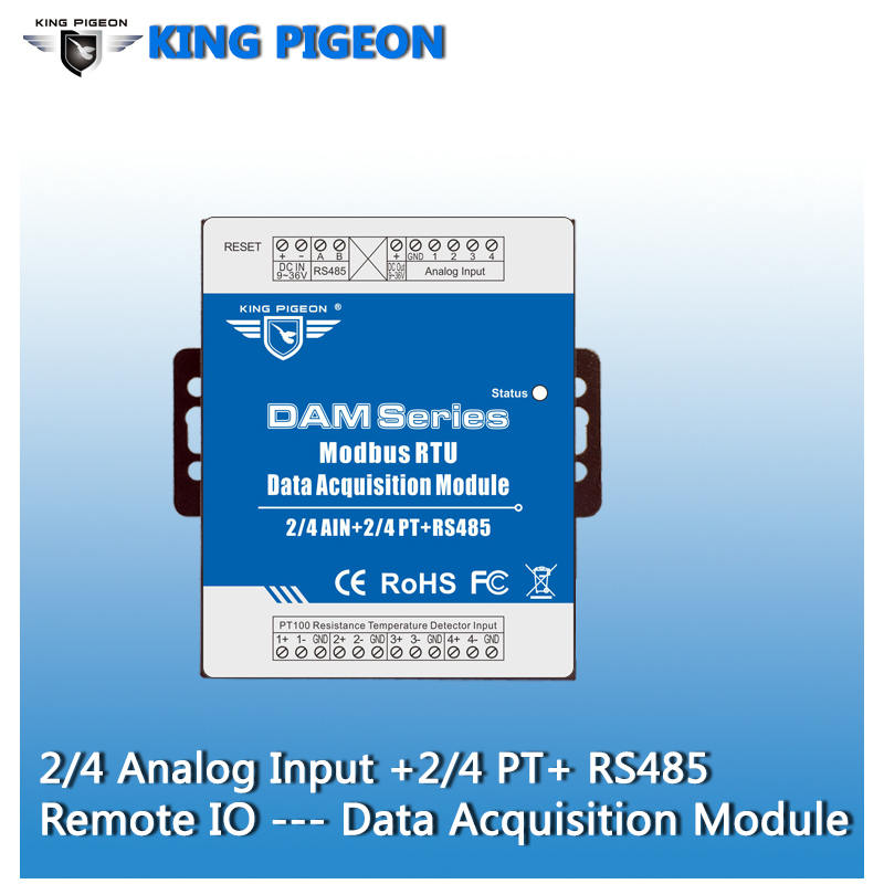 Image 2 - Industrial Grade Remote IO Module RTU for Industrial Energy Monitor & Flow Meter AIN+Temperature Modbus RTU Remote IO DAM124-in Alarm System Kits from Security & Protection
