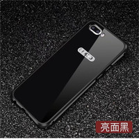 Luxury Ultra Slim Full Protection Case For Oppo R11 R11 Plus Mirror Tempered Glass Cover Plate
