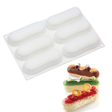 Silicone 3D Paris-Brest Eclair Cake Mold For Dessert Cookies Pudding Candies Baking Tools