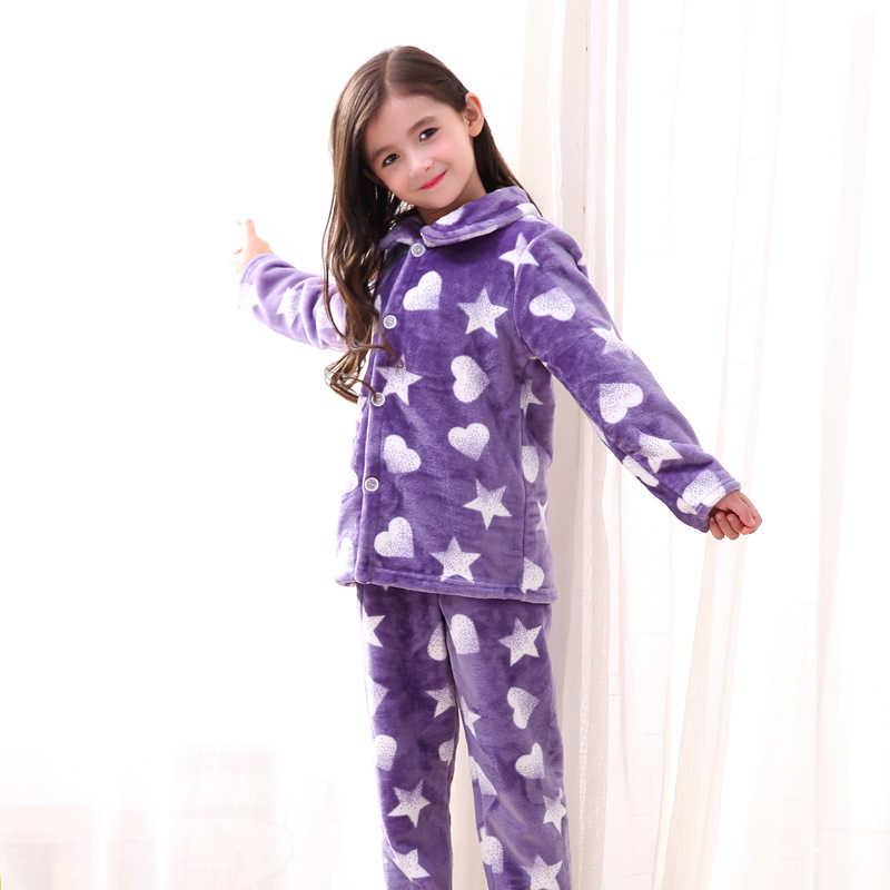 Pijamas de lana en Coral para niños, conjunto de ropa de dormir suave y cálida para bebés, pijamas de franela para niños, pijamas de invierno para niños, ropa de dormir