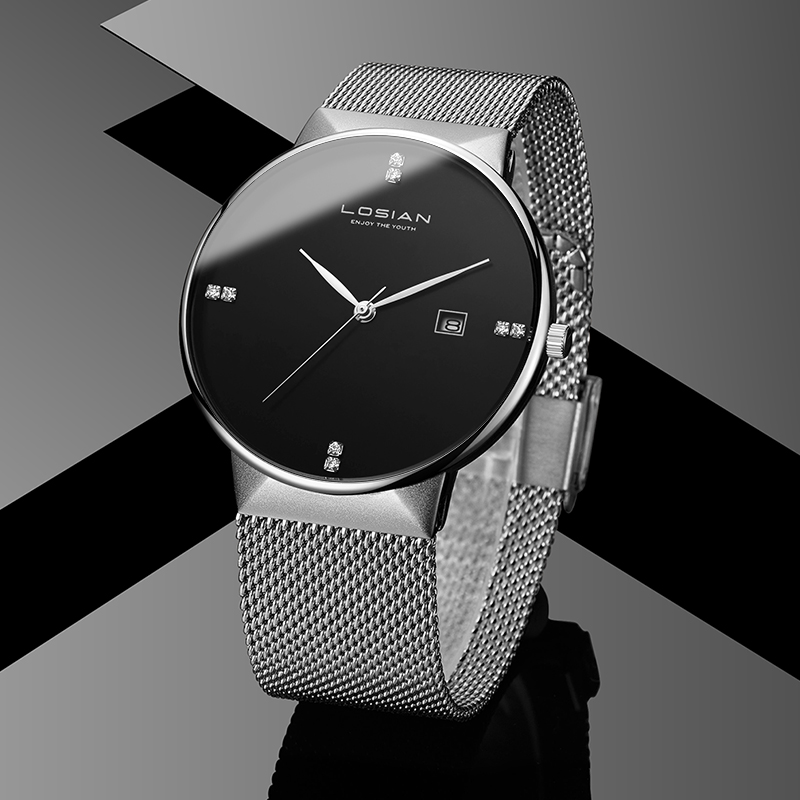 Losian Мода 2018 часы для мужчин Роскошные модные повседневное календари водостойкий relogio masculino de luxo водостойкие часы