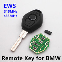 New Remote Key 315MHz 434MHz 3 Buttons For BMW Z4 X3 X5 E46 Series 1 3