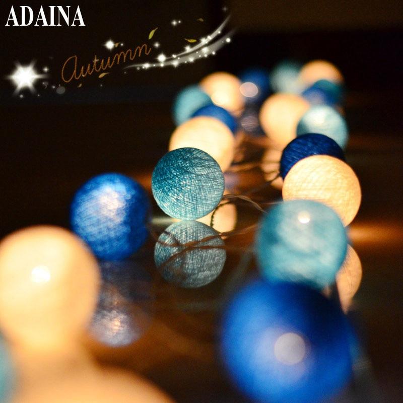 AC 35 Bomullsbelysning Bollar Julfee Strängljus Heminredning Fiestas - Festlig belysning - Foto 1