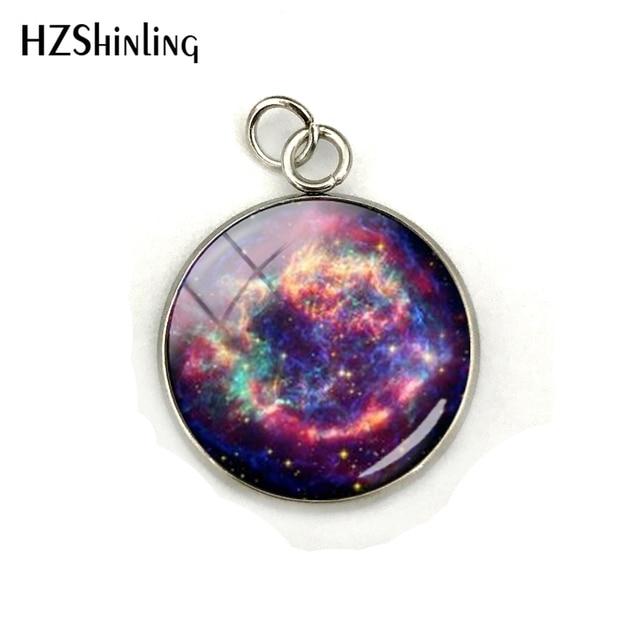 Nebula Space Pendant Astronomy Geek Jewelry, Nebula Charm Pendants Galaxy Space Glass Dome Stainless Steel Pendant Accessories 1