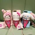 Dulce baskin robbins 3d conejo muñeca del perro de la caja del teléfono para iphone 7 7 plus 6 6 s 6 más 5 5S SÍ Suave Tpu Cubierta de la Caja Envío Gratis