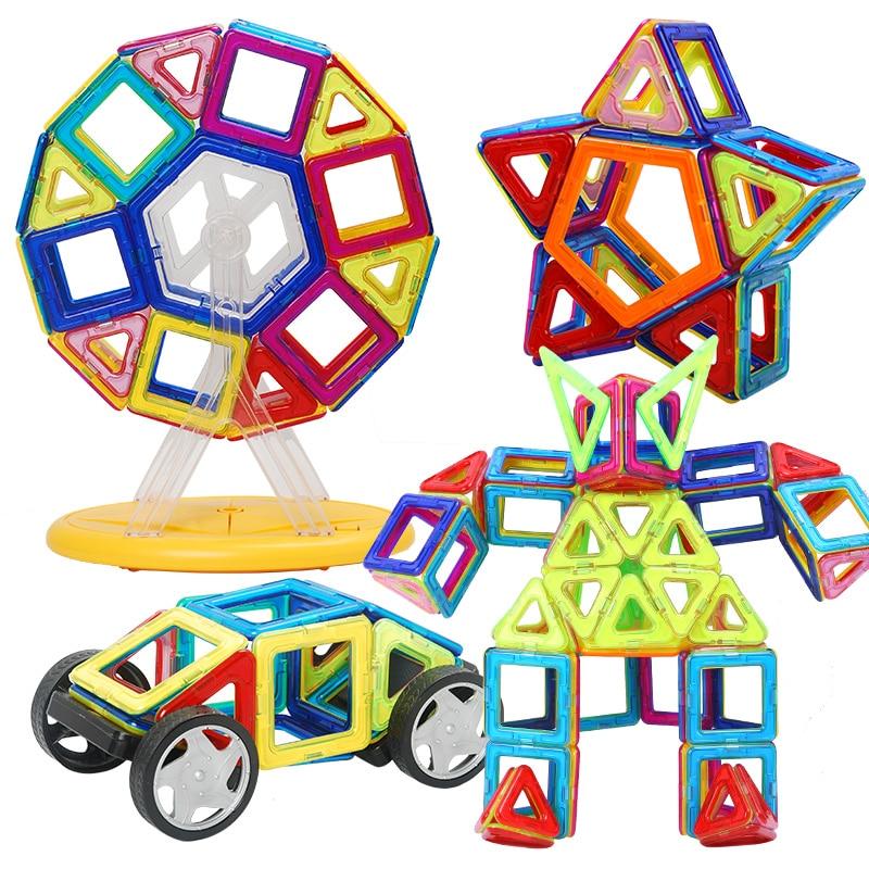 Hot! Kids Toys 40 & 52PCS Enlighten Bricks Educational Magnetic Designer Toy Brick Children Educational 3D DIY Building Blocks стоимость