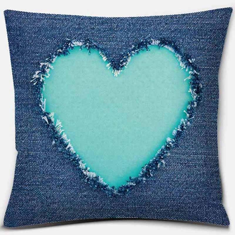 Декоративные подушки синяя наволочка для Гостиная геометрический Наволочка на подушку размером 45*45 см Украшения в спальню диван принципиаль домашний декор