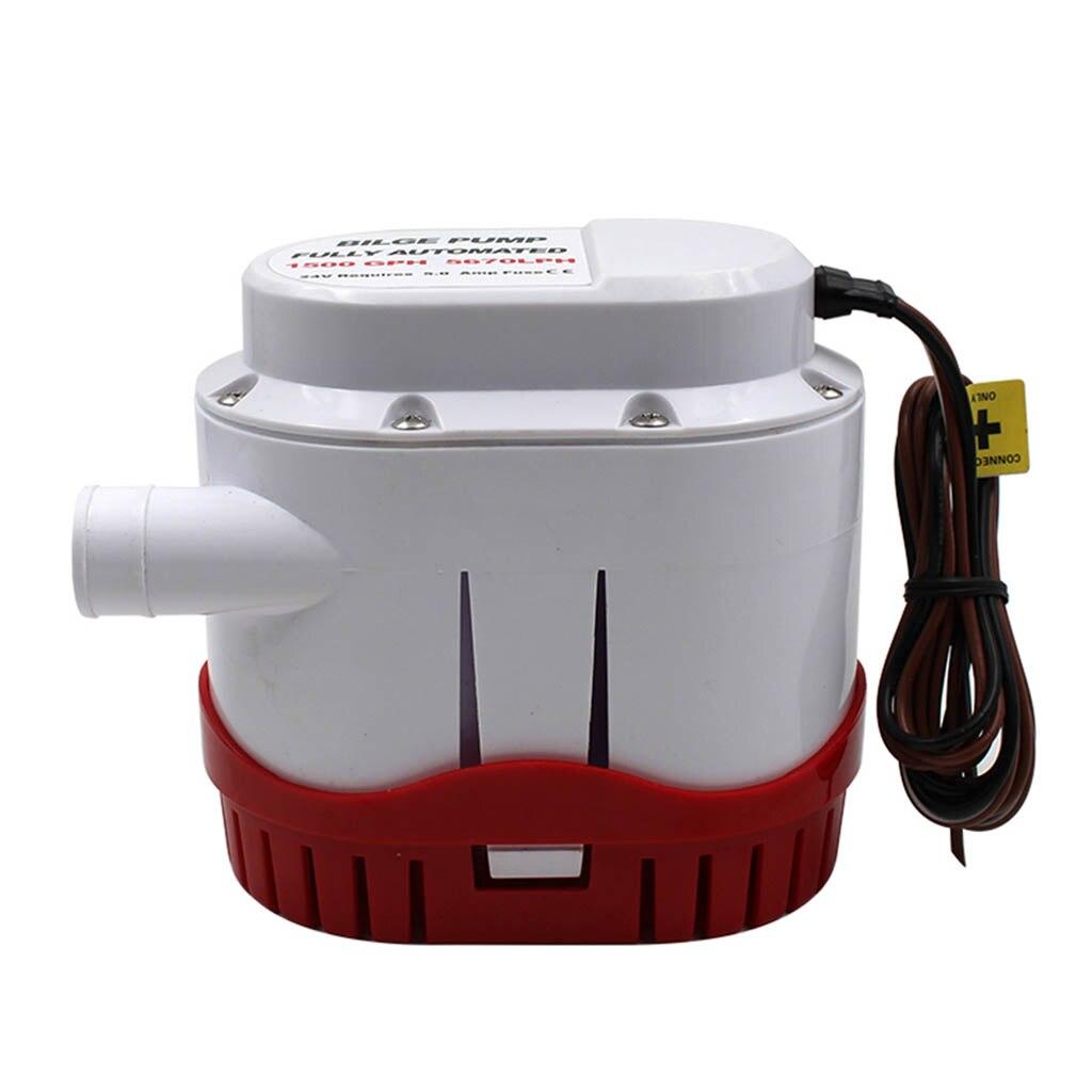 Pompe de cale automatique 24V 1500GPH pour eau de cale submersible avec interrupteur à flotteur accessoires de bateau à moteur électrique automatique