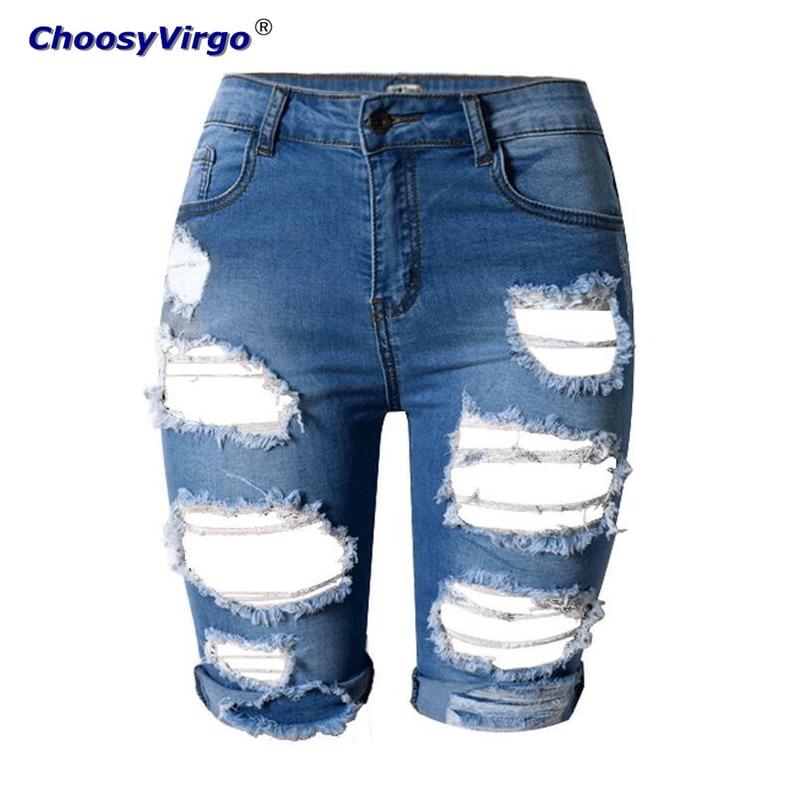 Online Get Cheap Knee Length Ripped Denim Shorts -Aliexpress.com ...