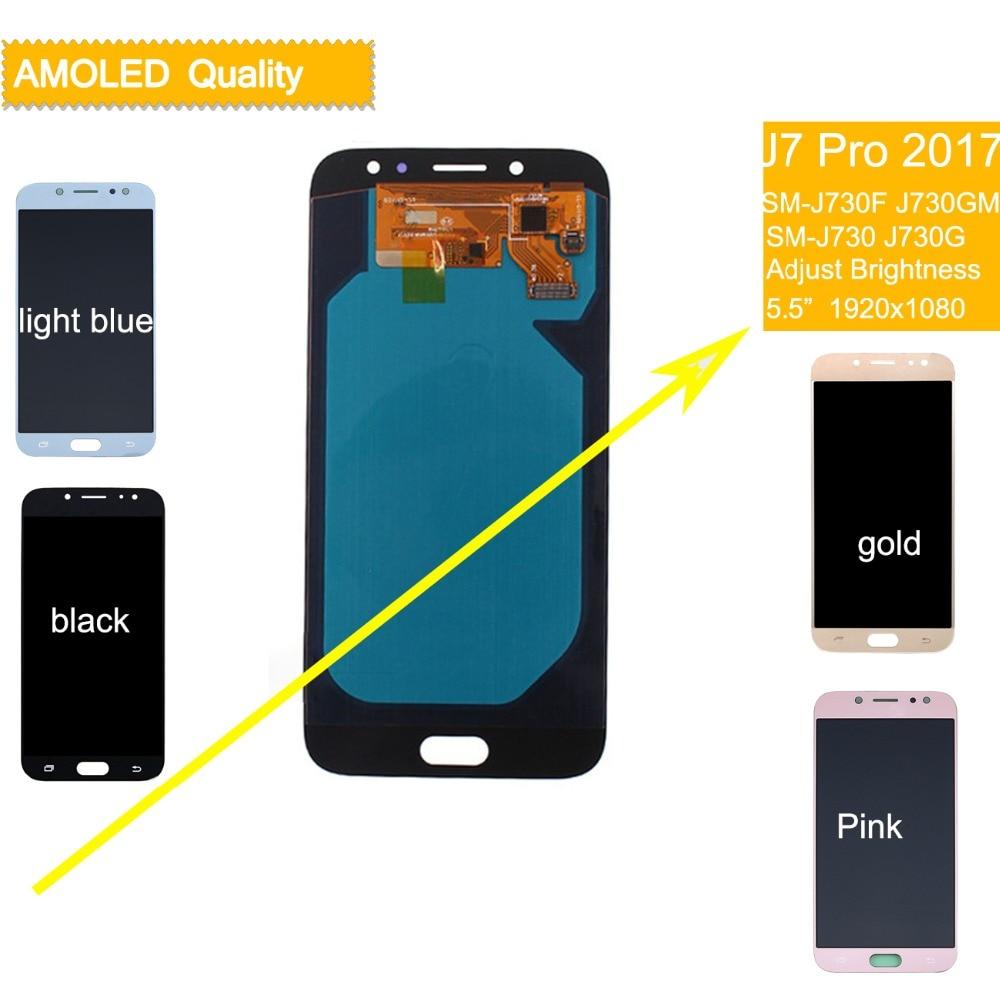 10 pièces DHL Pour SAMSUNG Galaxy J7 Pro 2017 ÉCRAN LCD Écran Tactile Assemblage Complet J730 J730F pour SAMSUNG J7 Pro LCD numériseur