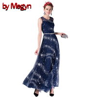 By Megyn Summer Style Women Casual Sundress 2016 Sleeveless Round Neck Solid Color Maxi Dress Plated