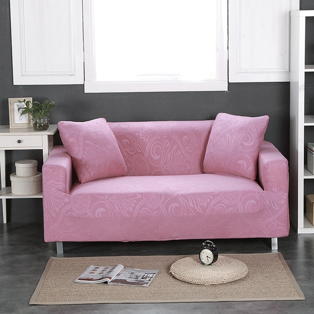 Living Room Sofa Cover Pink Pretty Pictures Embossed Apply To Single ...