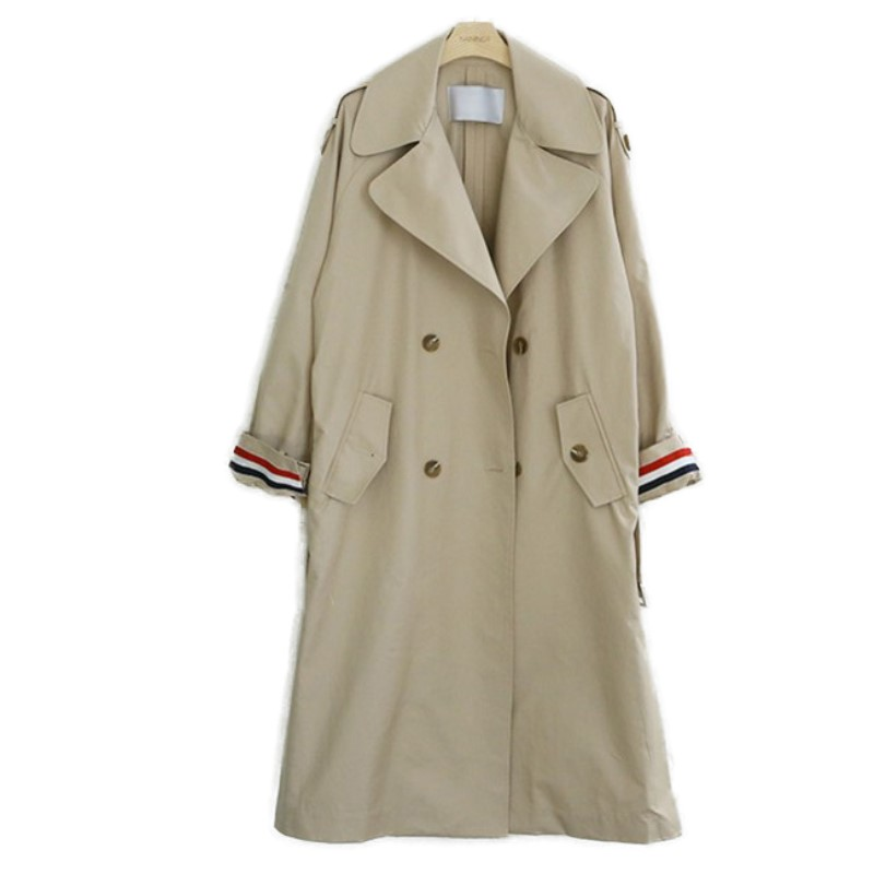 2-New-Spring-Autumn-Fashion-Casual-Women-s-Loose-Khaki-Trench-Solid-Coat-Shoulder-Board-Long-Outerwear