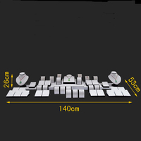 Ems Free Classical Jewelry Display Kit Pendant Necklace Pearl Stand Black White Wooden Window Display Counter Showcase Set