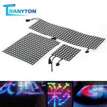 RGB светодиодный панель чип DC5V WS2812 полноцветный дисплей 8*8/16*16/8*32 SMD 5050 адресуемый гибкий светодиодный пиксельный экран