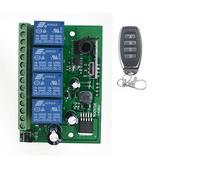Универсальный AC/DC 12 В в В 24 В 36 В 10A беспроводной пульт дистанционного управления 4CH релейный модуль приемник RF передатчик дистанционного управления гаражные ворота