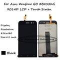 4.5 polegada preto display lcd + touch screen substituição digitador assembléia para asus zenfone go zb452kg x014d