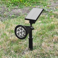 7 Colour In 1 LED Solar Lawn Lamp Spotlight Outdoor Adjustable Flood Lights Garden Yard Wall