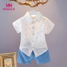 MUQGEW Baby boy summer clothes Toddler Boys Short Sleeve Ice-Cream Print T Shirts+Denim Shorts Set Outfit 12M-3T /PY(China)