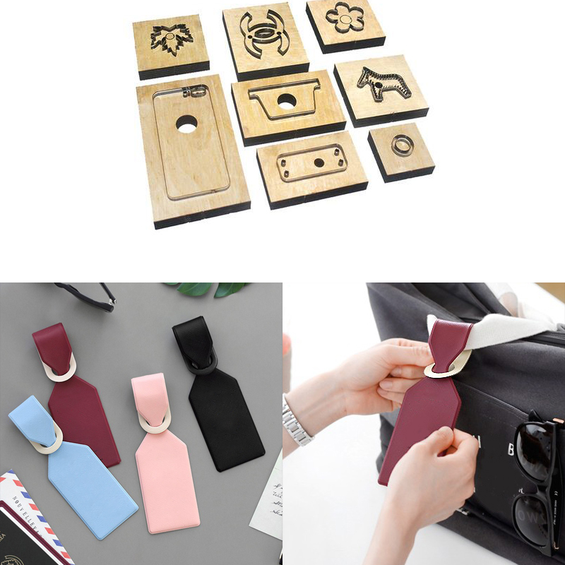 Japan Steel Blade Rule Die Cut Steel Plane Luggage Tag Cutting Mold Wood Dies Cutter Punch Tool For Leather Crafts 60x180x10mm