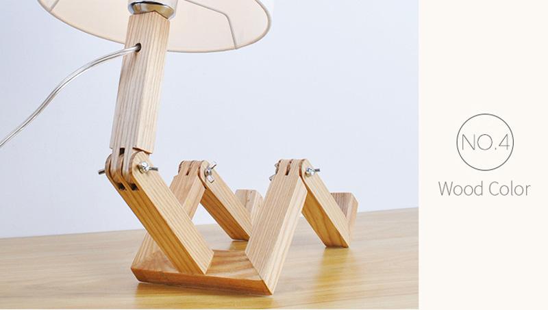 Nordice Modern Creative Gifts Foldable Robot Desk Table Lamps Wooden Base Table Lamp Bedside Reading Desk Lamp Home Decor Light Fixture (20)