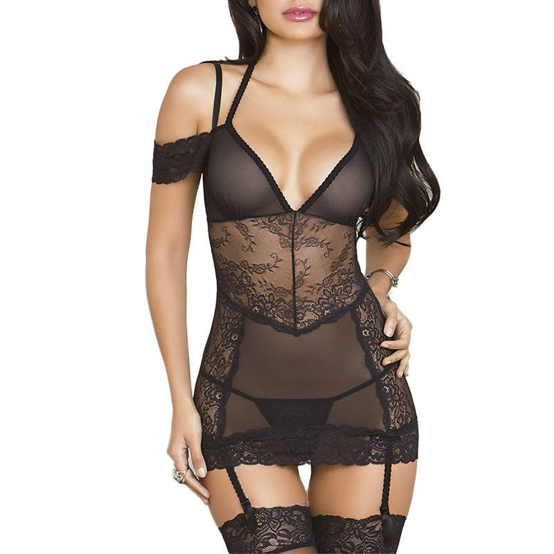 Porn Lingerie Sexy Hot Erotic Underwear Off Shoulder Baby Doll Sexy Lingerie Teddy For Women Lace Porno Babydoll Sexy Costumes
