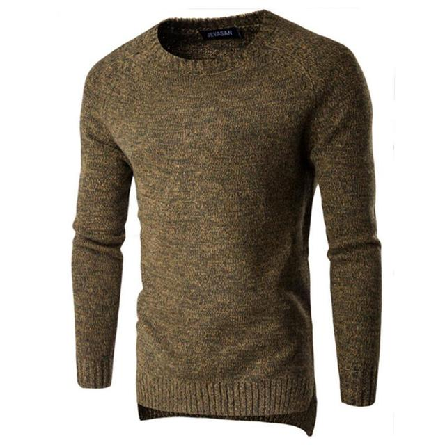 Pullover Winter 2017 Man Sweater Winter Men's Fashion Design Comfortable Pure Color Knitwear Sweater Man Casual Sweater