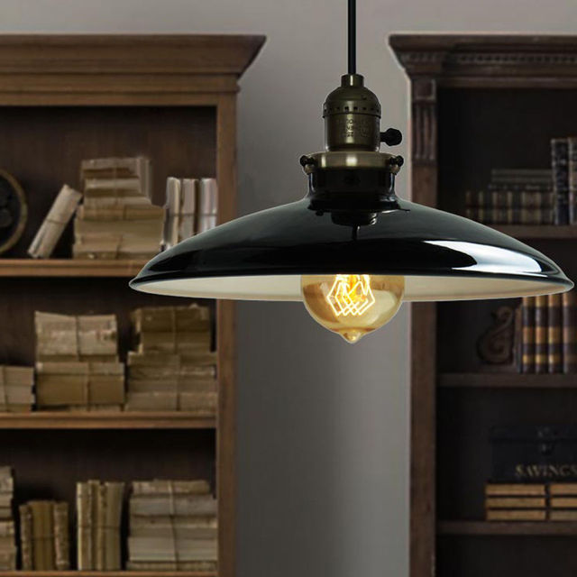 Retro Industrial Iron Vintage Pendant Lamp Drop Light Fixture Ceiling  Lampshade For Dining Room E27 220