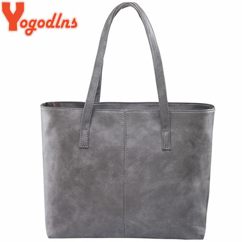 Yogodlns Handbag Tote-Bags Large-Capacity Design Gray/black Women Brief
