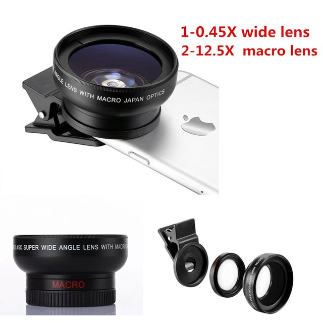 7a24dd74243867 Macro Mobile Lens 0.45X Super Wide Angle Lens 37mm Digital High Definition  for iphone 6 6s 6plus Samsung s7 huawei LG camera