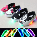 2017 Fashion cartoon LED lighted high quality baby shoes soft cute boys girls shoes casual Cool kids shoes slip on baby sneakers