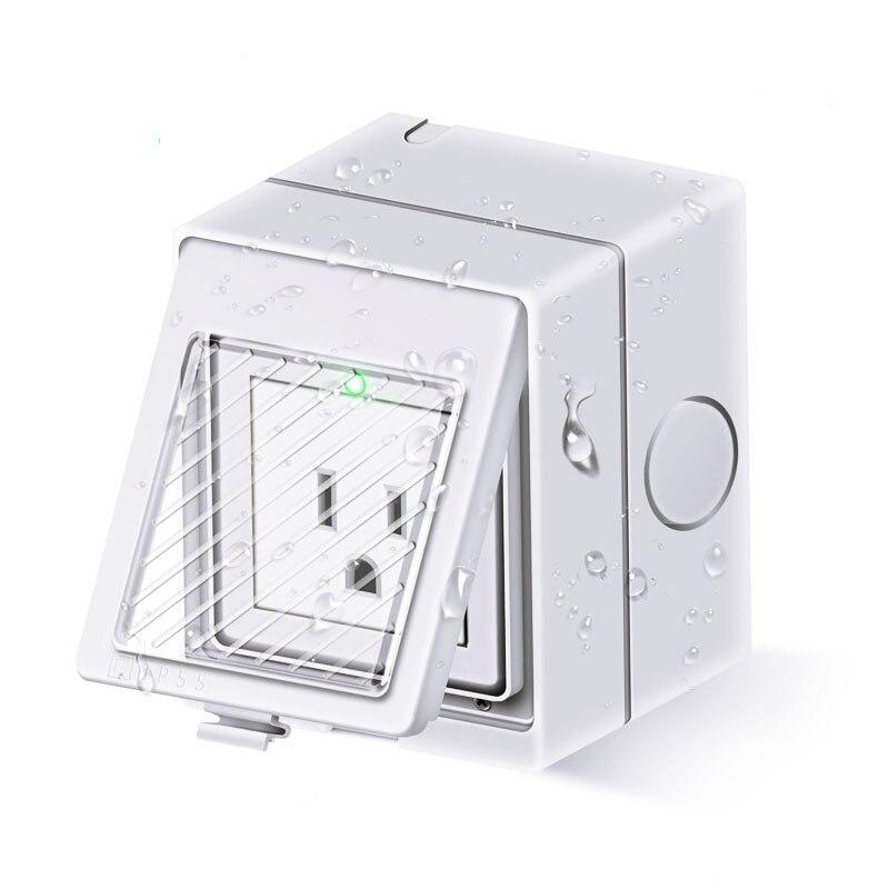 EU/UK/US/AU/Universal 10A 2500W IP55 Waterproof WIFI Wireless Smart Remote Control Socket Plug for Smart Home