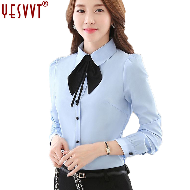 d04c1ba84d71c yesvvt 2017 autumn fashion clothes OL women long sleeve shirt white chiffon  blouse office ladies plus size formal tops 3xl 4xl-in Blouses & Shirts ...