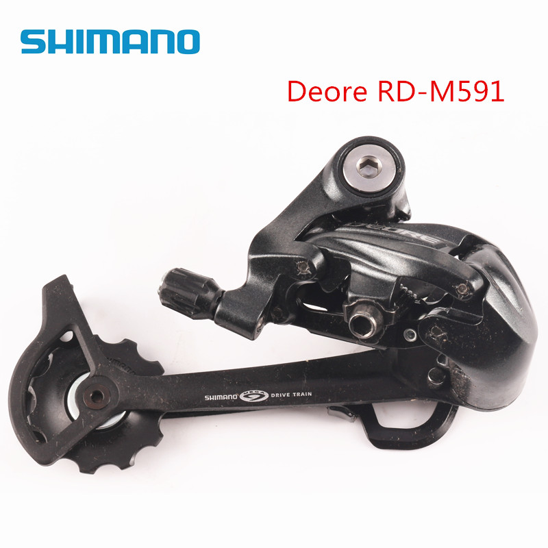 Shimano Deore RD M591 9 Speed Mountain Bike Bicycle Rear Derailleur Black SGS Long Cage M591 MTB Bike Rear Derailleurs