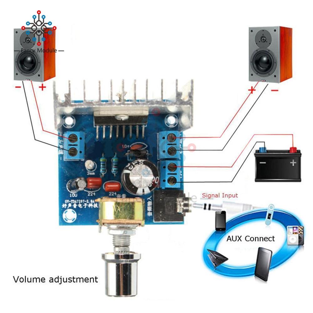 Tda7297 Amplifier Board Spare Parts Dc 12v Grade 20 Dual Audio Circuit Diagram Using Tr And Ic Tda2030 200w Ac 2x15w Digital Diy Kit Channel Module