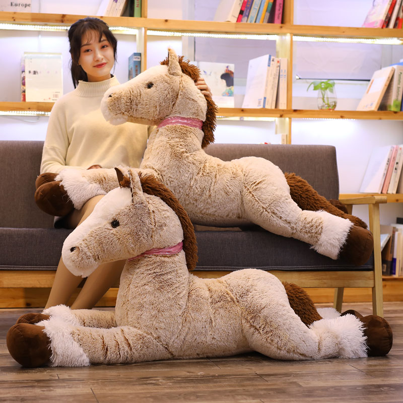 120cm NEW Plush Horse Toy Big Size Stuffed Animal Doll Baby Kids Birthday Gift Home Shop Decor Triver High Quality Toy