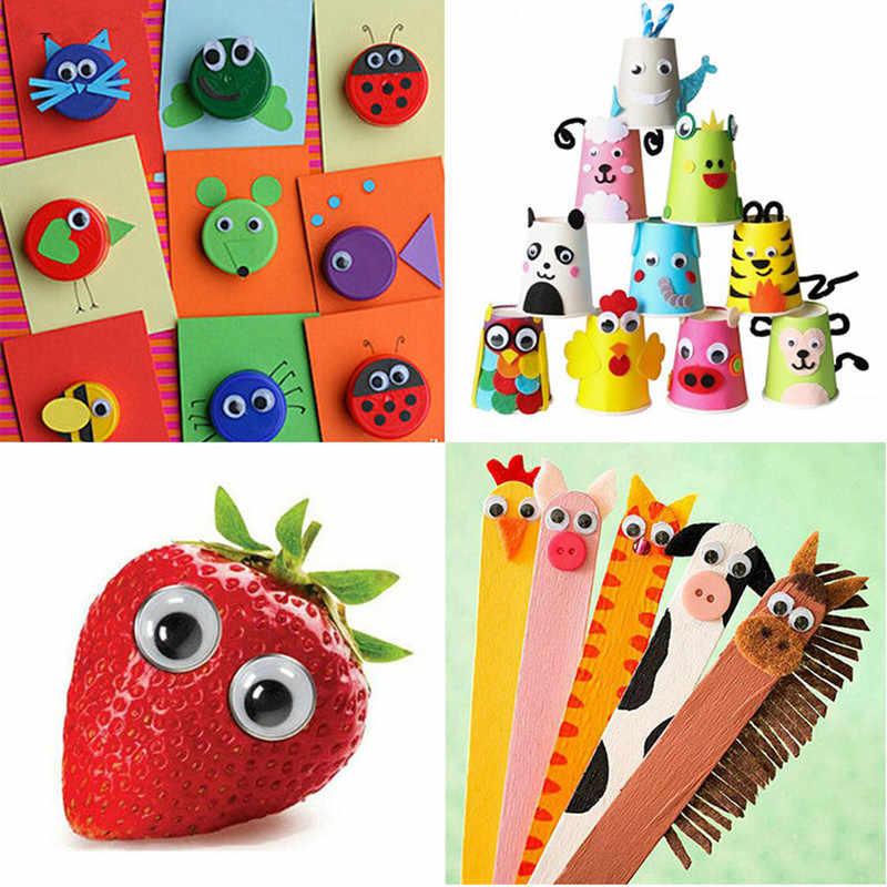 4-24MM Mixed Googly Eyes DIY Craft Supplies Self-adhesive Wiggly Eyeballs Children Hand Scrapbooking Arts Decor Eyes For Toys