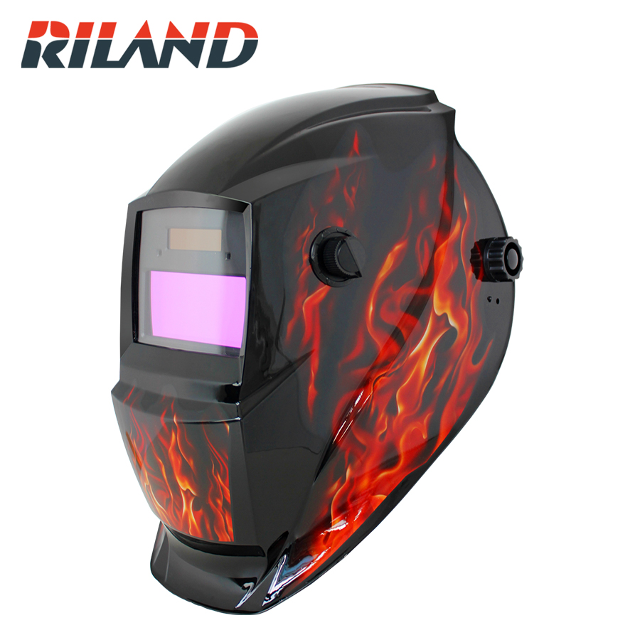 RILAND X701 Solar Auto Darkening MIG MMA Electric ARC Welding Mask/Helmet/welder Cap for Welding Machine welder machine plasma cutter welder mask for welder machine