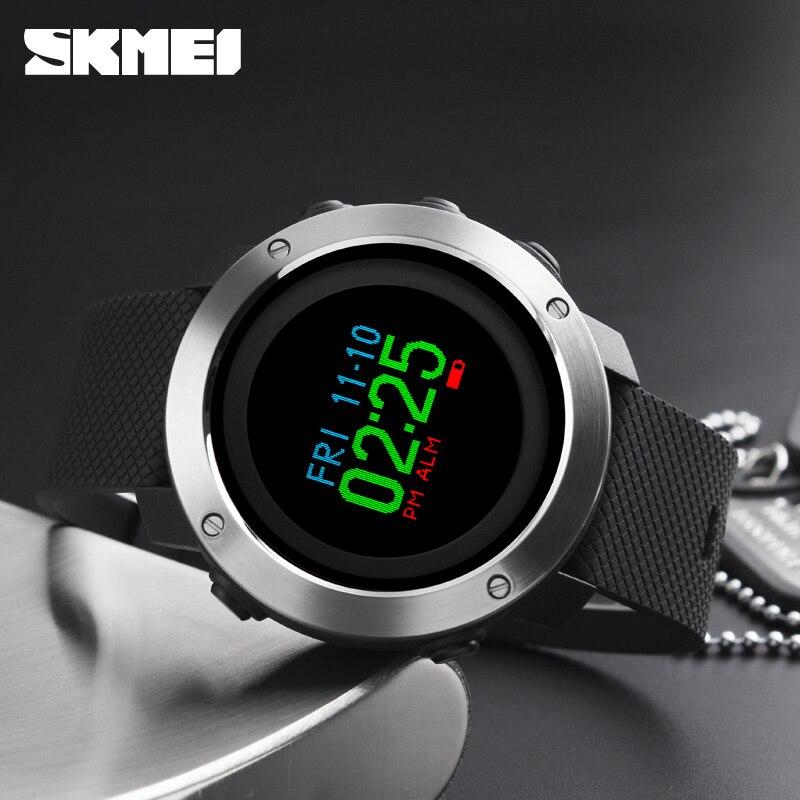 Smart Watch OLED Display Pedometer Calorie Compass Waterproof Digital Watch Sports Watches